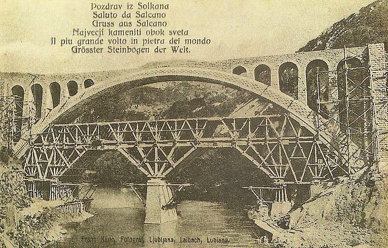 The Solkan Bridge (the photograph is from 1906)