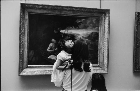 Alécio de Andrade, At the Louvre, 1993.