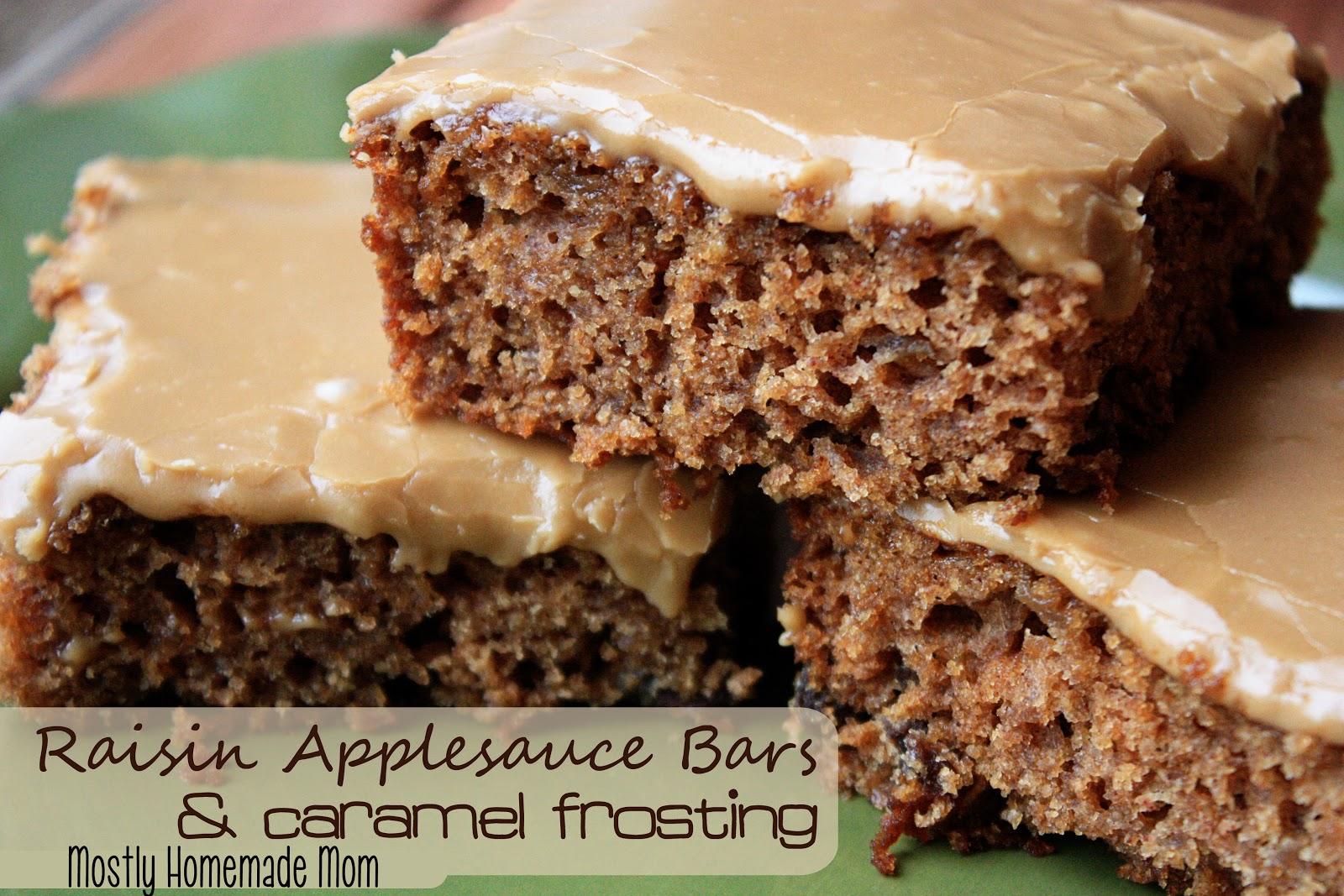 Applesauce Raisin Cake With Caramel Frosting
