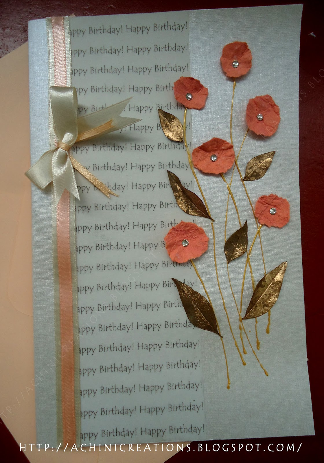 Achini Creations Handmade Greeting Cards Simple Birthday Card For A