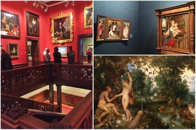 Museo Galería Real de Pinturas Maurithuis en La Haya - El Jardín del Edén con el pecado original de Jan Brueghel el Viejo y Peter Paul Rubens