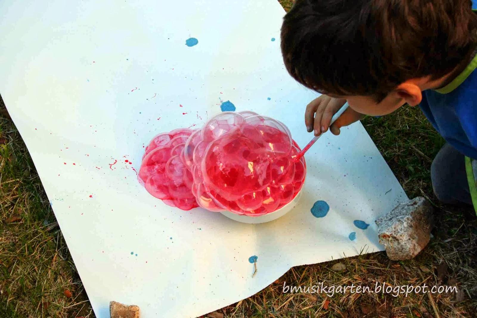 Cómo pintar con burbujas de la manera más divertida   Beatriz ...
