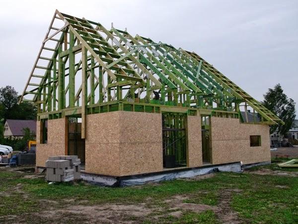 dom szkieletowy, szkielet, drewniany z fabryki, osb