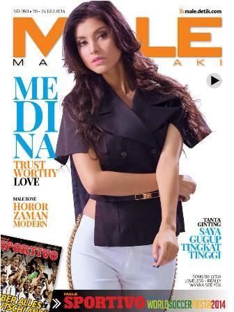 Download Gratis Majalah MALE Mata Lelaki Edisi 90 Cover Model Medina | MALE Mata Lelaki 90 Indonesia