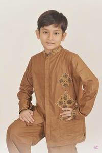 Gambar desain baju muslim anak sederhana
