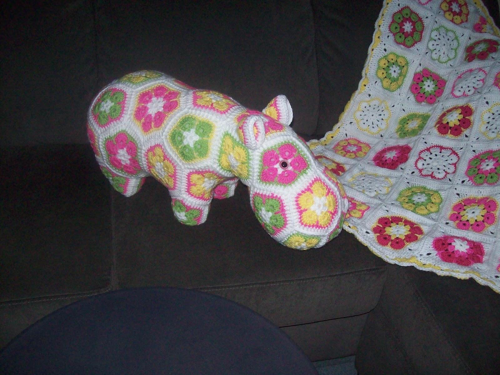 Cats Rockin Crochet Fibre Artist Crochet Happy Hippo and The African ...