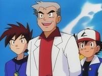 Ash, Gary y el Proferor Oak
