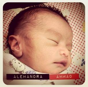 Gambar Anak Aqasha dan Noor Baizura iaitu Alehandra Ahmad