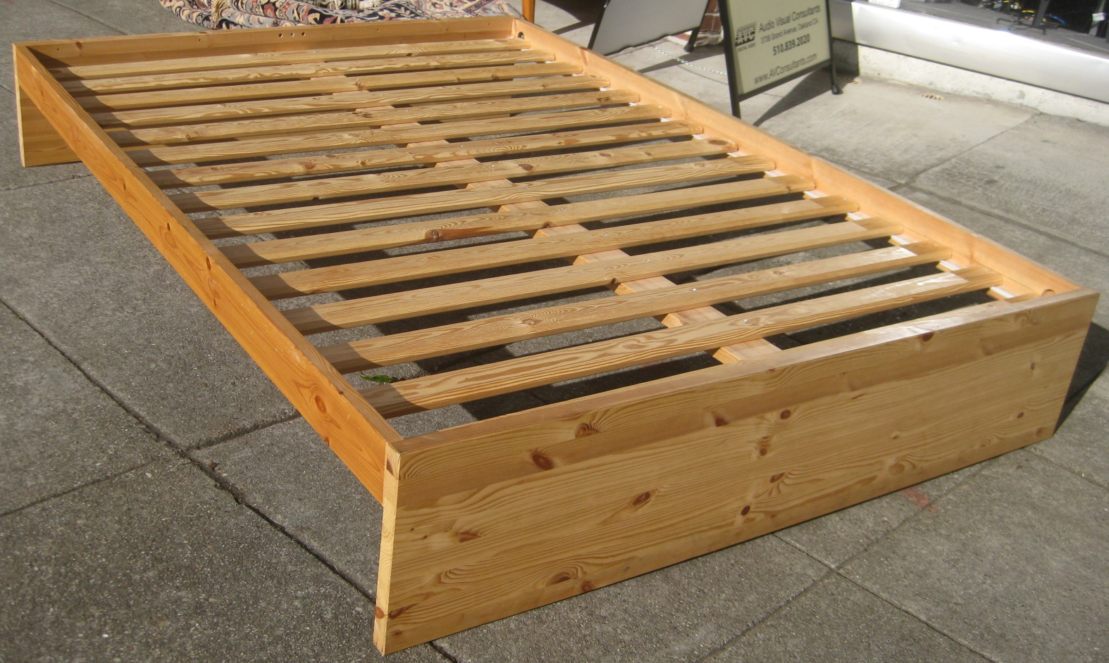 sold pine double bed frame 75