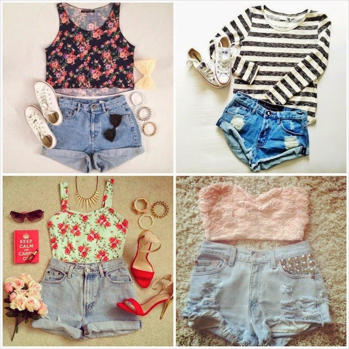 outfit romantico shorts