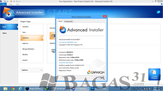 Advanced Installer 9.8 Full Patch 3