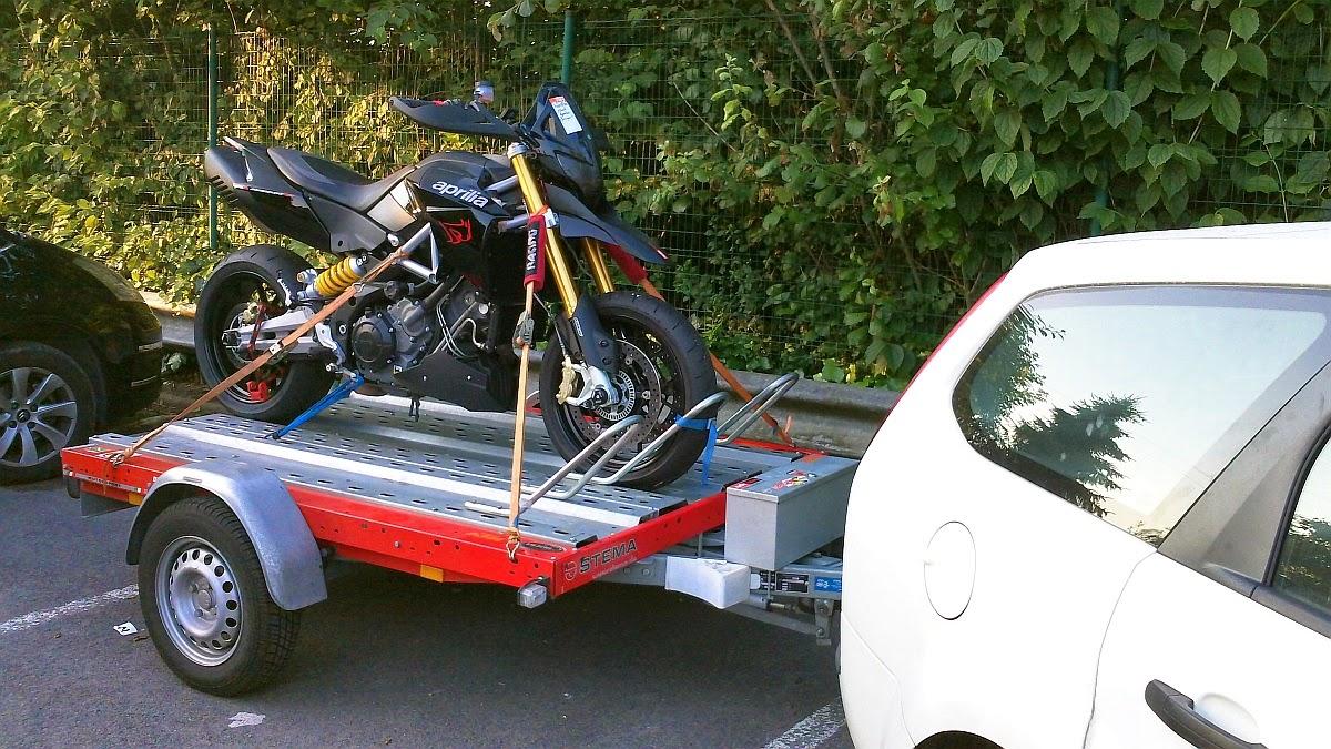 mein Motorrad-Trailer