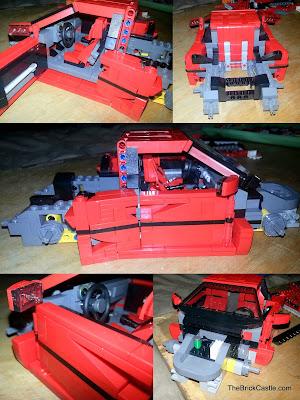 LEGO Ferrari F40 set 10248 build photos