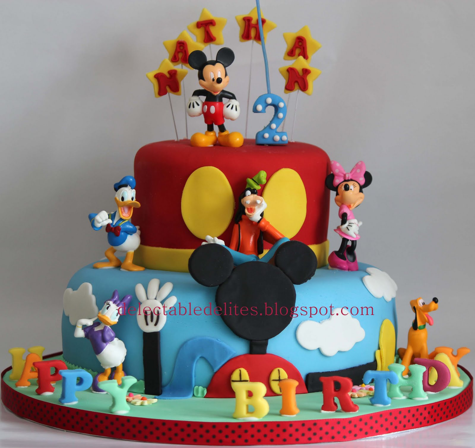 Delectable Delites: Mickey mouse clubhouse cake for Nathan ...