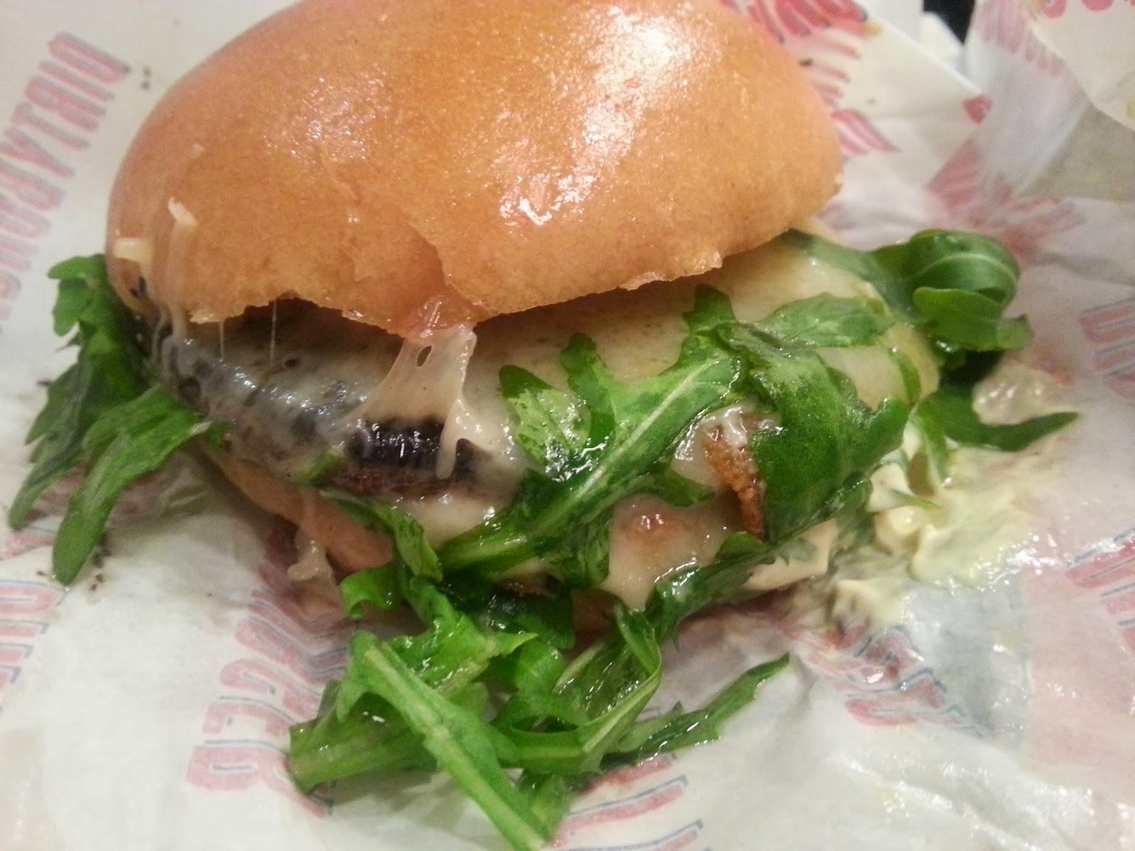 Dirty Burger's portobello mushroom special