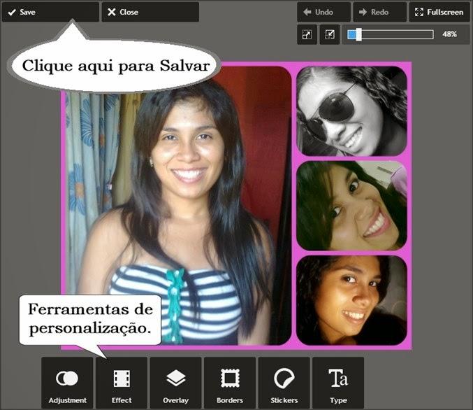 personalizar colagem de fotos