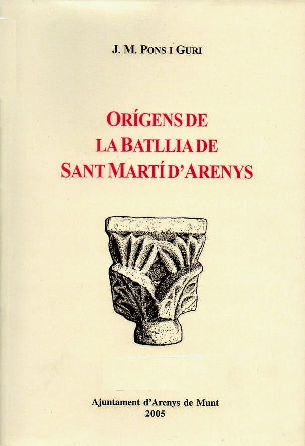 Orígens de la Batllia de Sant Martí d'Arenys