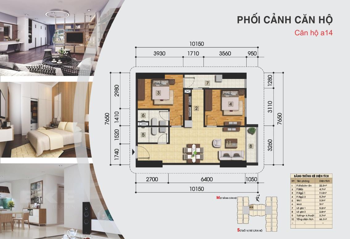 Thiết kế căn hộ a14 - Gemek Premium