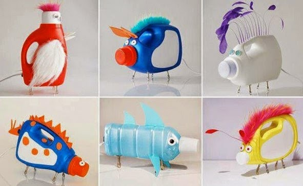 Boneka lucu dari botol plastik
