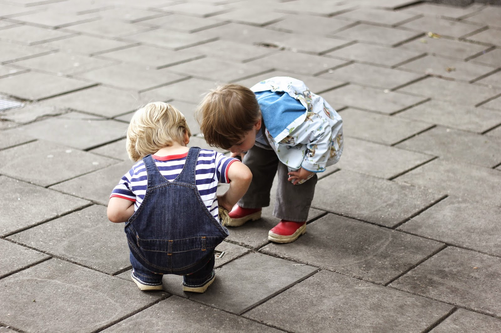 toddlers exploring