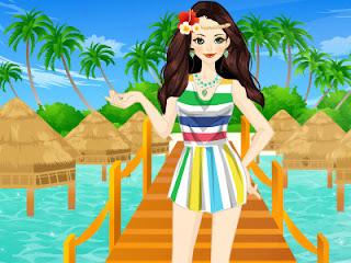 Juego de moda para ir de vacaciones a las islas Maldivas