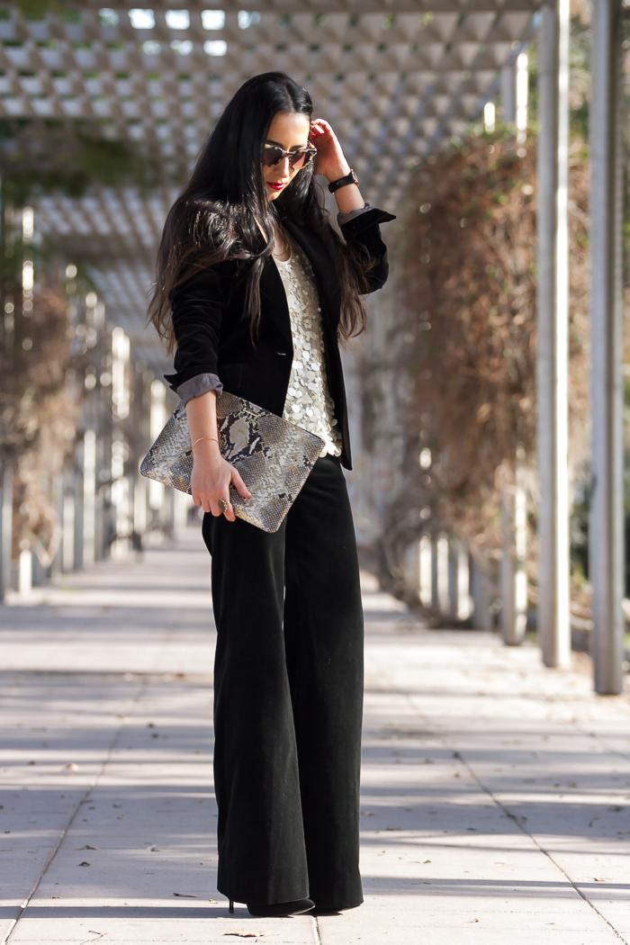 Como combinar un traje  con chaqueta blazer americana y pantalon de terciopelo