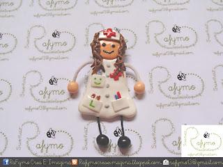 Enfermera 2 hecha con Fimo