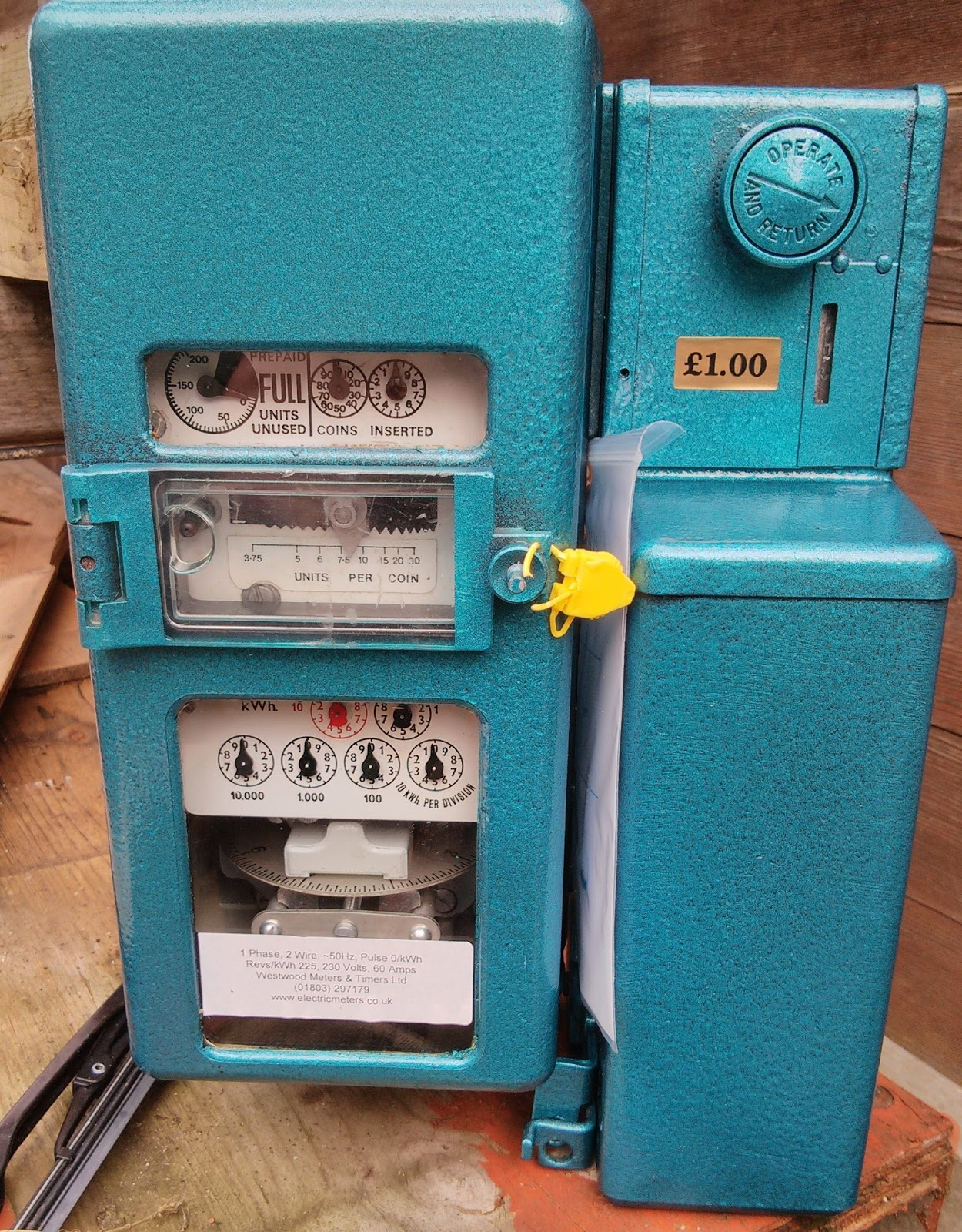 Electricity Coin Meter : My personal thoughts gas electric meter