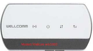 seting modem wellcomm wm338G