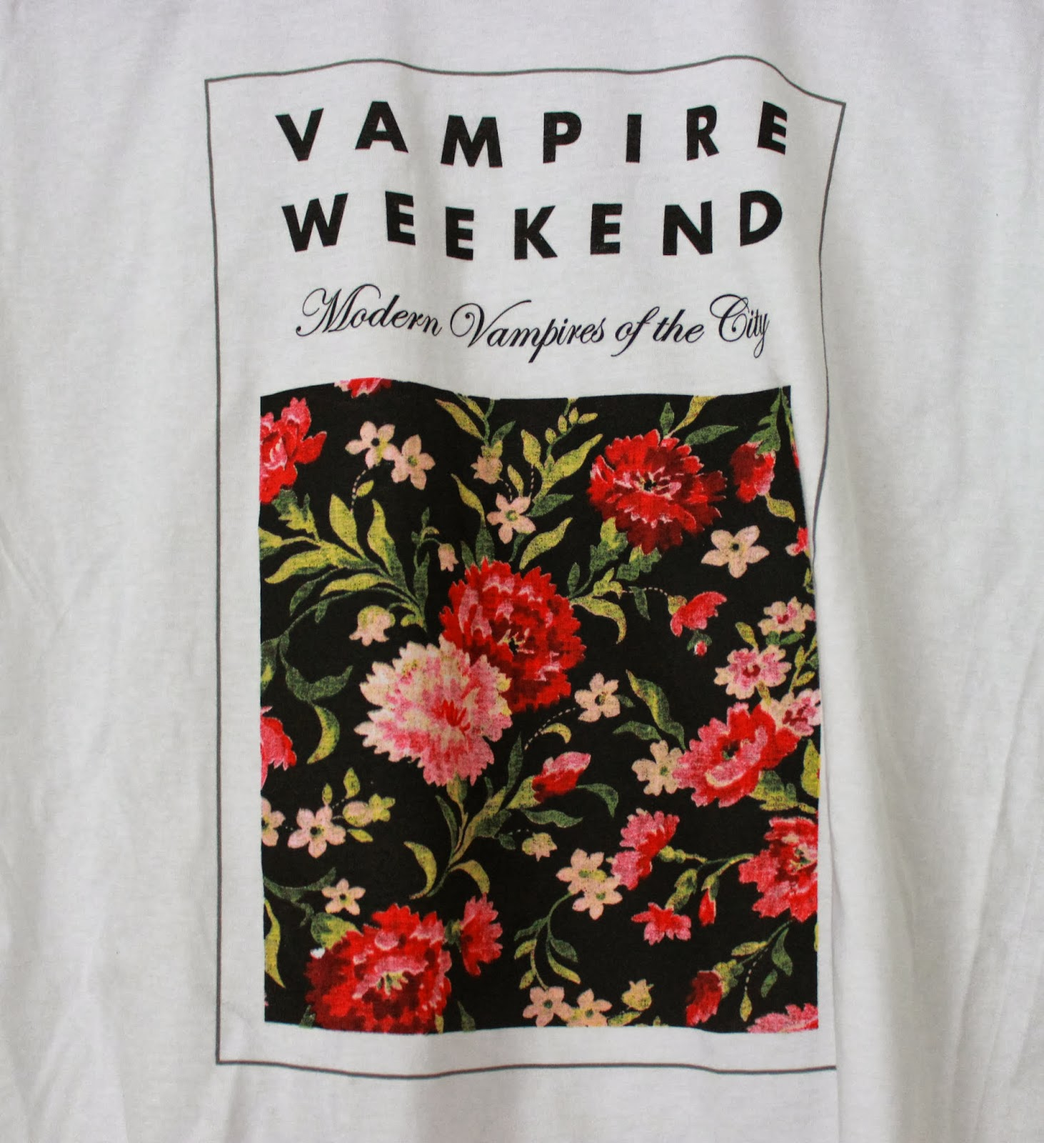 Vampire Weekend Modern Vampires Of The City Floral Modern vampires of    Vampire Weekend Modern Vampires Of The City Floral