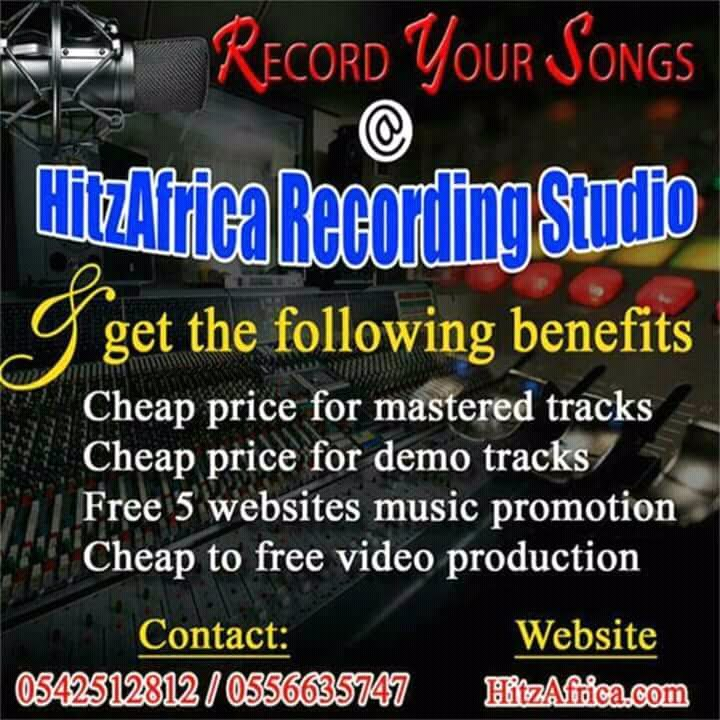 Record your songs At Hitzafrica Recording Studio