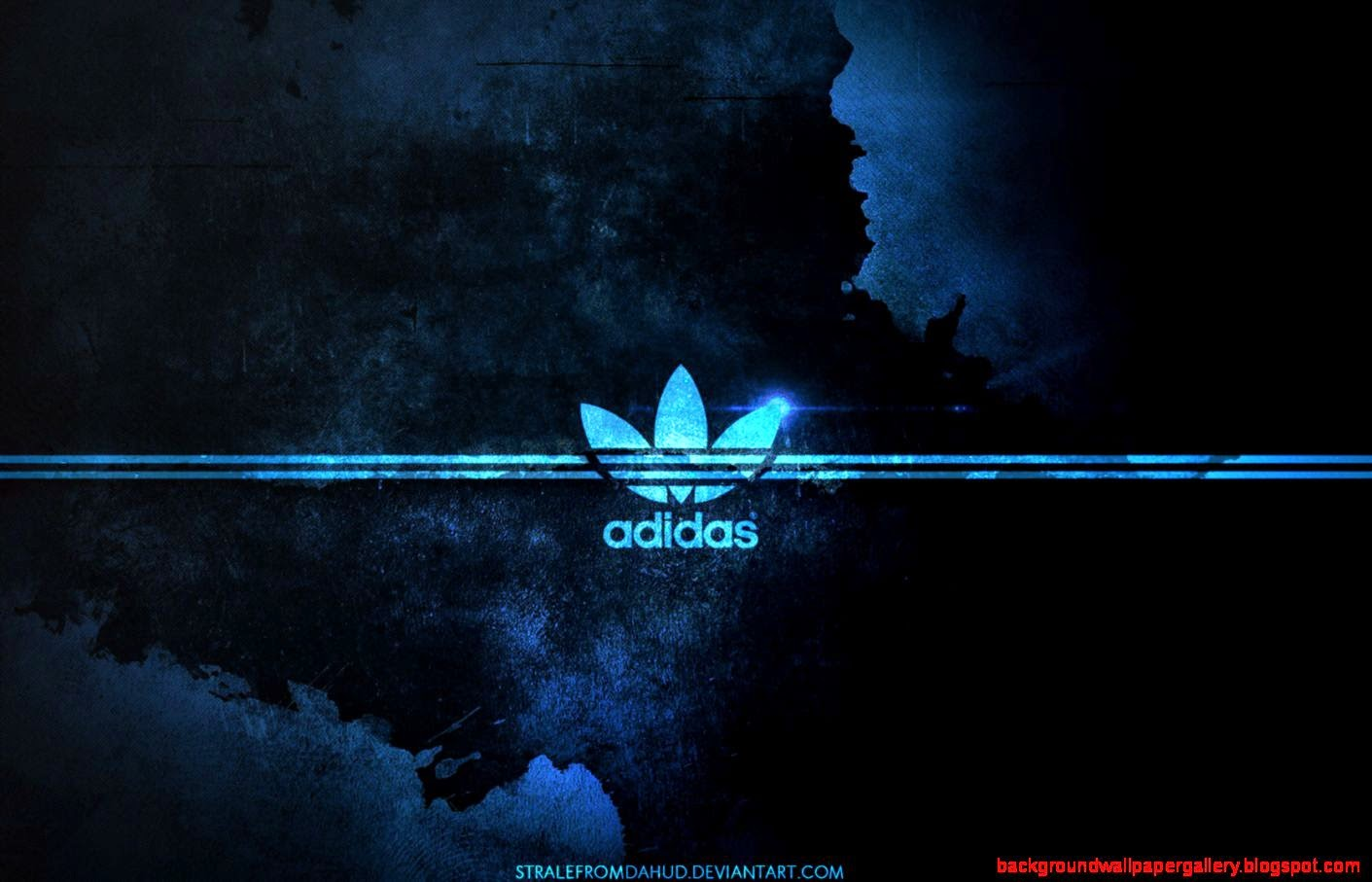 Adidas wallpaper blue