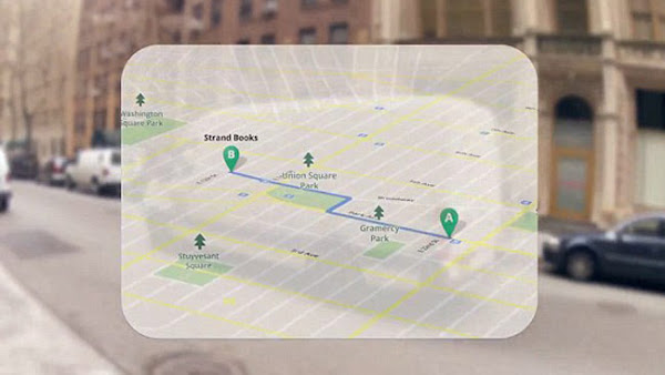 Google Project Glass: Maps and Distances