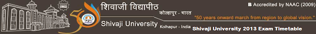 Shivaji University 2013 Exam Timetable