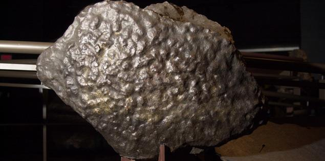 The Arthur Ross Hall of Meteorites is home to a similar asteroid — one not used as a ham press — the Gibeon Meteorite found in 1836 in Namibia, Africa. Credit: nydailynews.com
