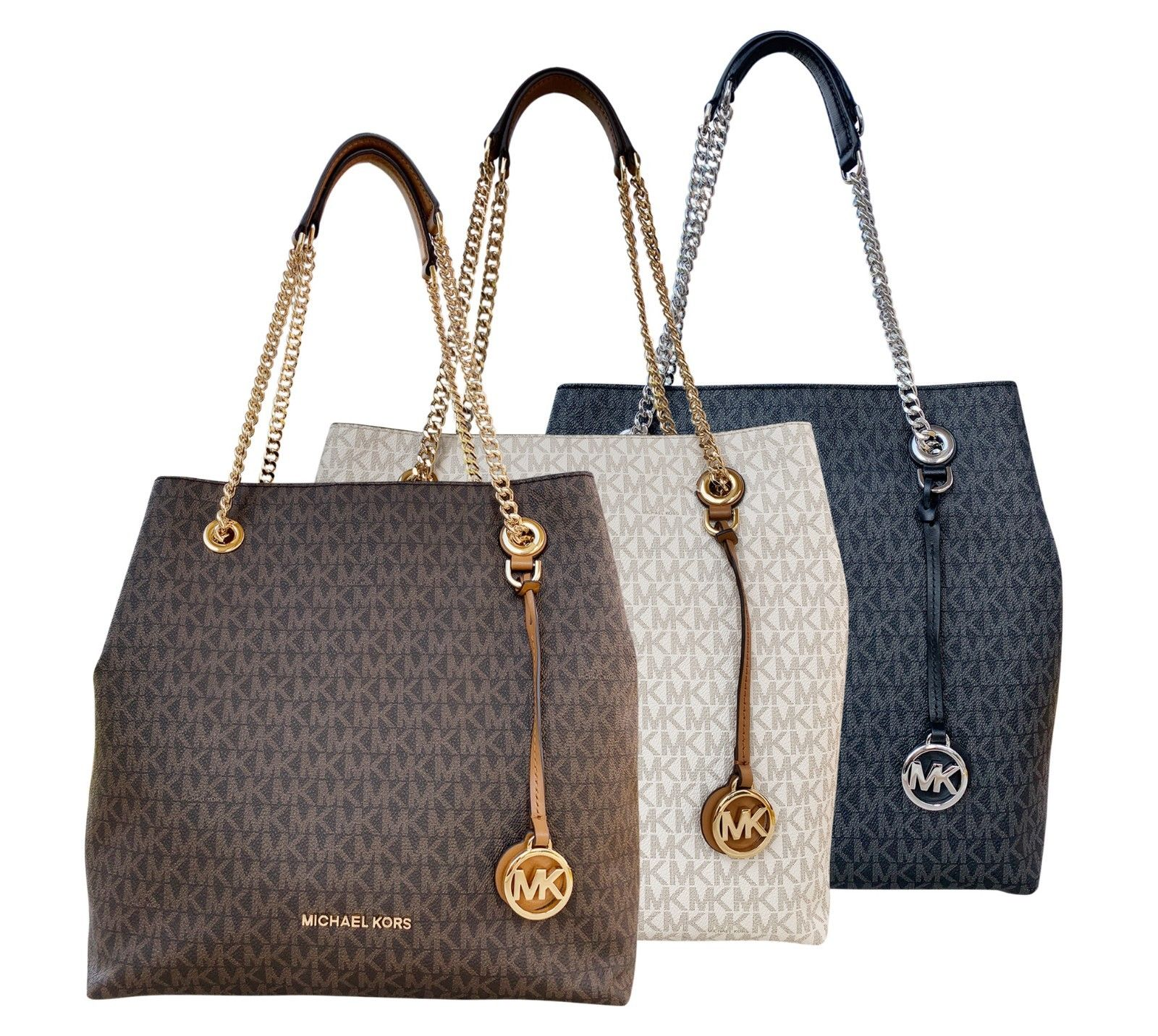 Only $150 - Happy Bday Gift Idea For Her  - Michael Kors Jet Set Chain Large Shoulder Tote MK Sign