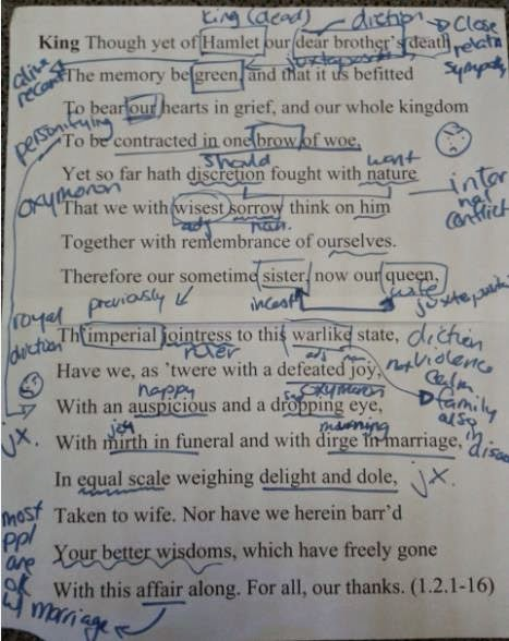 hamlet close reading essay Close reading choose one of the following passages from hamlet: 11123-156 (marcellus, barnardo, and horatio) 1310-44 (laertes) 31122-160 (hamlet and ophelia.