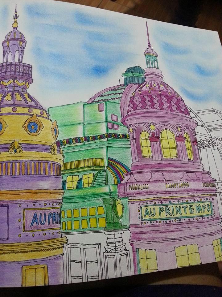 Secret Paris Using Faber Castell Color Pencil Sharpie And Oil Pastel
