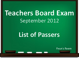 results are out september 2012 let passers elementary a j september