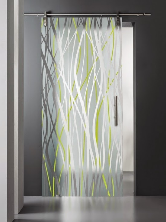 Cool Stained Glass Interior Doors For Modern