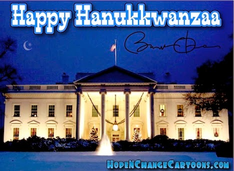 obama, obama jokes, political, humor, cartoon, conservative, hope n' change, hope and change, stilton jarlsberg, hanukkah, kwanzaa, islam