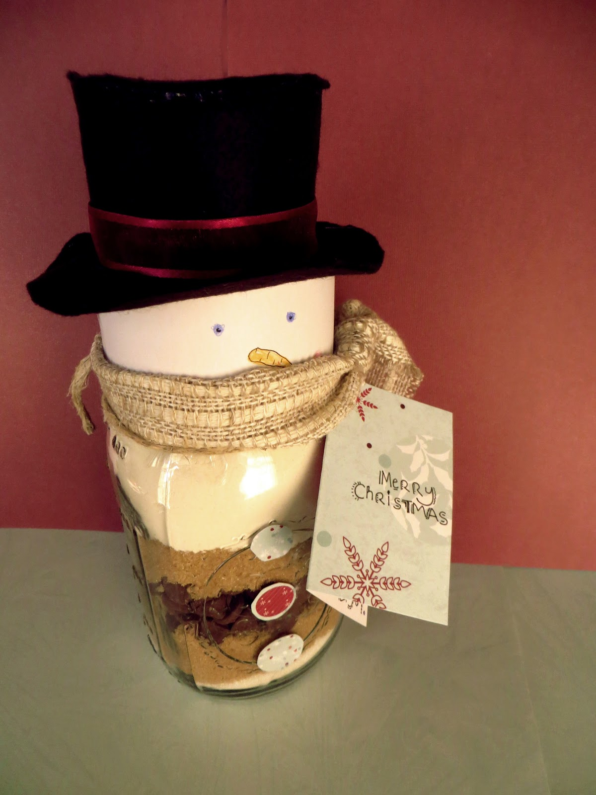 Namely Original Cookie Mix In A Snowman Jar