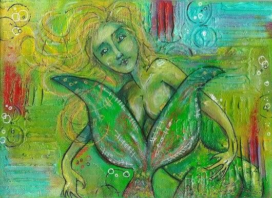 Whoopidooings: Carmen Wing - Mixed Media Mermaid
