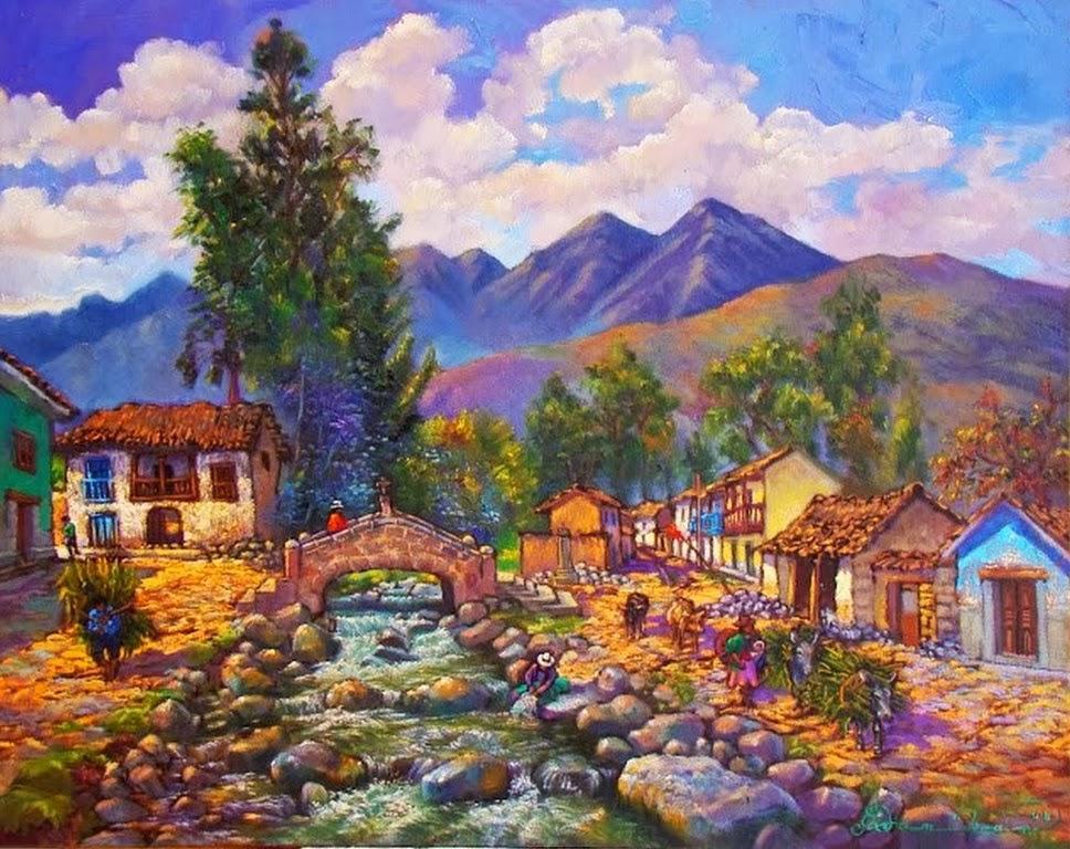 Al Leo De Paisajes Rurales Pintores De Paisajes Al | LZK Gallery