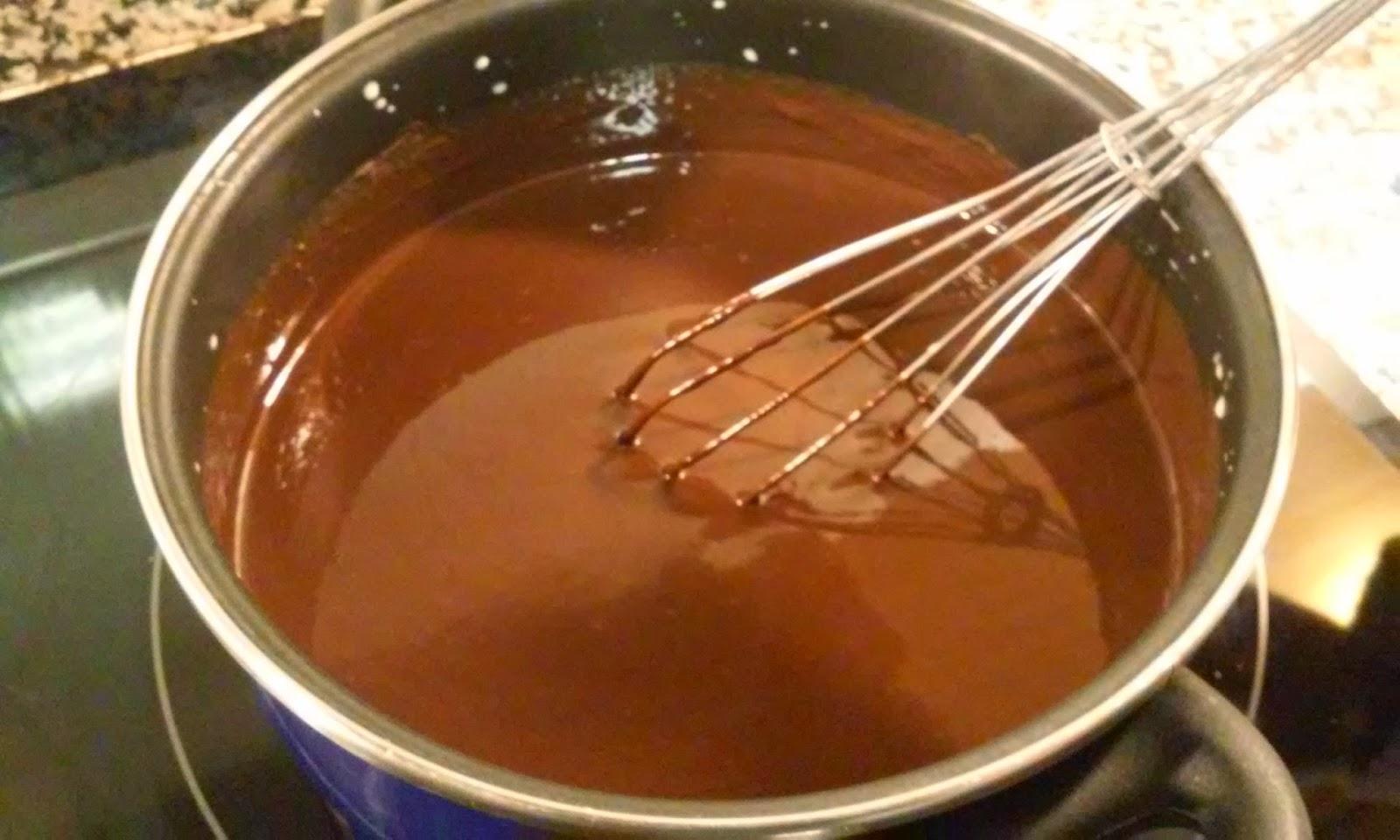 retiramos el chocolate del fuego