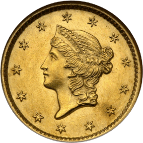 1849 Coronet Twenty Dollar Gold Piece