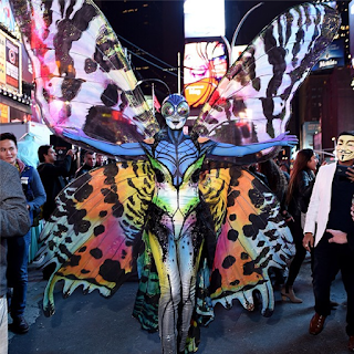 Heidi Klum's dramatic butterfly costume
