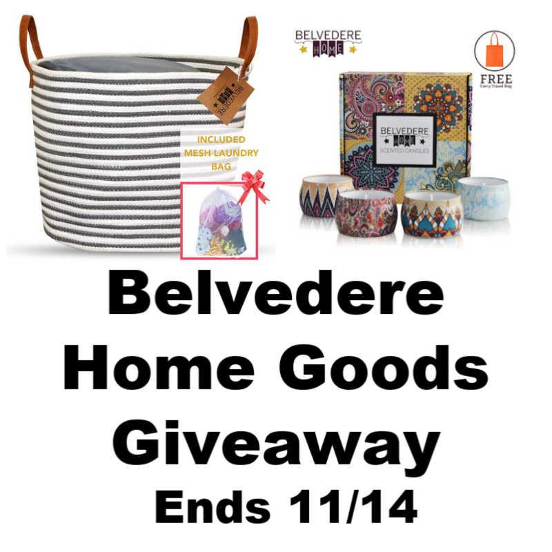 Belvedere Home Goods Giveaway