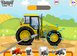 Farm Tractor Wash and Repair