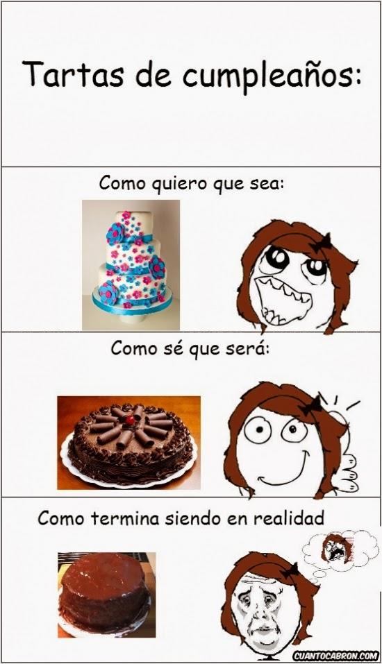 memes caricaturas  tartas de cumplea u00d1os